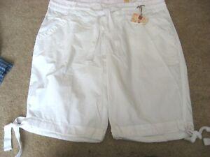 Womens Juniors NWT White OCEAN PACIFIC Drawtie Waist Cotton Shorts 11