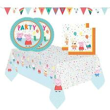 Official Peppa Pig Kids Birthday Party Plates Napkins Table Cover Banner Set