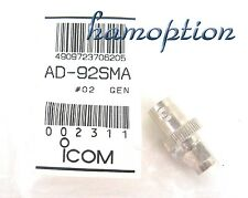 NEW ICOM AD-92SMA SMA to BNC Adapter for IC-91A IC-91AD IC-E91 IC-E91D IC-92AD
