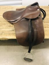 Eldonian English Brown Cutback Horse Leather Dressage Saddle Made In England