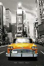 New York Taxi No 1 USA America Maxi Poster Print 61x91.5cm | 24x36 inches