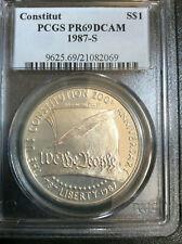 1987-S U.S Constitution Silver Dollar PCGS PR69DCAM Gem Proof B7665