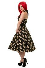 S Voodoo Doll Anime Black Tea Long Dress Banned UK 10 Gothic Occult Prom