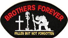 BROTHERS FOREVER Military Veteran Embroidered Jacket Vest Biker Patch Emblem