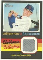 2020 Topps Heritage High Number ANTHONY RIZZO Clubhouse Collection Relic Cubs Gr