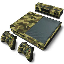 Xbox one Console  Camouflage Camo Skin decal Wrap stickers +kinect +2 controller