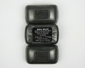 Qty 3 - New Erno Laszlo Sea Mud Deep Cleansing Bar Soap TRAVEL SIZE 17g/.6 oz