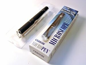 Carson Optical MP-300 24x - 53x LED Lighted Microscope Pen Micropen MP300