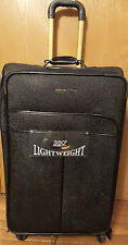 "29"" ADRIENNE VITTADINI LUGGAGE EXPANDABLE LARGE,LIGHTWEIGHT STINGRAY BLACK"