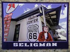 JAMES DEAN cutout in Seligman Arizona on Route 66 post card, mint!