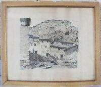 Incisione Antica Pubblicità Roganeau Villaggio (2)