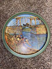 "Sunshine Vtg Van Gogh 13"" tray The Langlois Bridge at Aries"