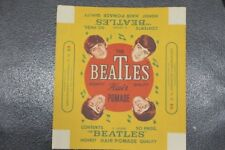 MINT/ RARE 1960's Beatles Hair Pomade Paper Wrapper/Label 8x9 ins. H.H Chemical