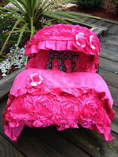 3D rosy Pink infant Car Seat cover Canopy Cover Blanket fitMost infant car seat