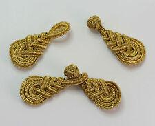5 PAIA DI Rana Elementi di fissaggio pulsante Nodi Colore Oro Metallico # 20