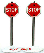Dept. 56 Stop Sign Set of 2 Heritage Retired Snow Village 51764 Free Shipping
