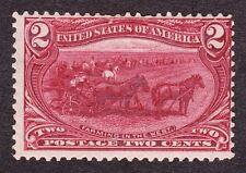 Us 286 2c Trans-Mississippi Mint F-Vf Og H Scv $25