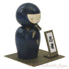 Cool Japanese Kokeshi Doll NINJA by Usaburo w/gift #081