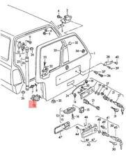 Genuine Stop Buffer Satin Black VW Golf Variant Jetta Passat 4Motion 1H9827499