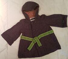 Oobi Bubble Jacket Dress Winter Warm Coat Hoodie Polka dot Girls size 5/6 Years