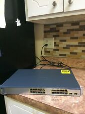 Cisco WS-C3750-24TS-S 24-Port 10/100 + 2x SFP-Based with Power Cord