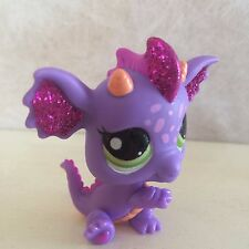 Littlest Pet Shop RARE Dragon #2660 Sparkle Glitter Teal Green Purple 9 pictures
