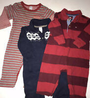 Baby Boys 3 Pc Lot Size 6-12 Months, Hilfiger, babyGap, Red & Navy Blue Winter