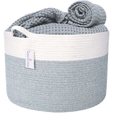 XXL Cotton Rope Basket - For Storage, Laundry, Toys, Clothes, Blankets, Pillows