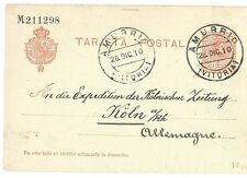 Spain: 1910; Postal Stationery, Amurrio to Germany. XF, EBES018