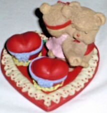 New Teddy Bear Heart Themed 7 Pcs Mini Tea Set Barbie Miniature Playset