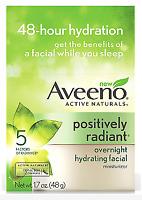 Aveeno Positively Radiant Overnight Hydrating Facial Moisturizer 1.7 oz - New