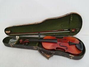4/4 Stradivarius Copy Vintage Violin Czecho-Slovakia w/ Bow & Case