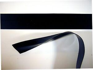 Latex Rubber Trim Strips 0.50mm, 20mm x 200cm, Black