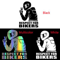 RESPECT FOR BIKERS Waterproof Reflective Biker Motorcycle Decal Car Sticker New