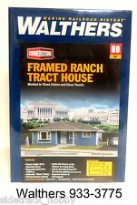 HO Scale Walthers Cornerstone 933-3775 Framed Ranch Tract House Building Kit
