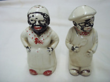 Vintage Black Americana Chef And Mammy Salt & Pepper Shakers