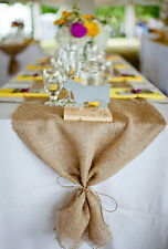 Burlap Table Runner Fringe Edge 14 x 72 Inch - Natural Jute