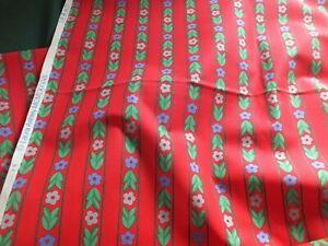 Vintage Laura Ashley Fabric  - Pinnafore Red 8m x 120cm