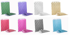 POLKA DOTS SWEETIE BIRTHDAY PARTY EASTER GOODY CANDY SWEET PAPER BAG BAGS ⭐⭐⭐⭐