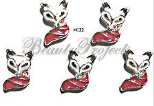 5pc Nail Art Charms 3D Nail Rhinestones Decoration Jewelry DIY Fox Bling - C22