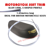 MOTORCYCLE SEAT TRIM ALLOY LOOK U SHAPE PROFILE FOR TRIUMPH BSA NORTON 1650 mm
