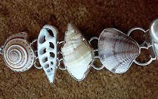 925 Fine Sterling Silver Adjustable Charles Albert Multi-Shell Bracelet -