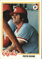 1978 Topps Baseball Card #20 Pete Rose DP - NM