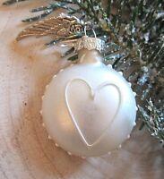 ★herz christbaumkugel weihnachtsohrring mit schutz engels flügel und brisur 3cm