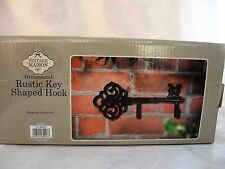 Vintage Maison Rustic Key Shaped Hook Cast Iron Coat Keys Hanger