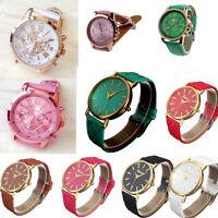 Geneva Women Ladies Watches Roman Leather Band Analog Quartz Wrist Watch подарок