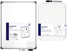 More details for a4 a3 dry wipe whiteboard notice memo record score board pen eraser mounts nw