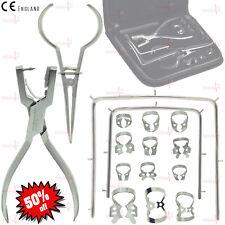 Conjunto de goma dental dam Ainsworth Punch Palmer fórceps 12 Abrazaderas Marco Kit De Calidad