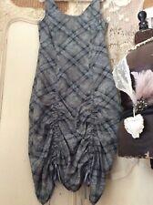 Myrine & Me Designer lagenlook asymétrique en coton à volants robe ~ Art-to-wear ~ Taille M
