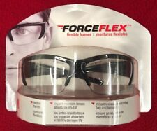 437fa0e4750 3m Safety Eyewear Forceflex 99% Uv Protection Black Frame Clear Lenses Free  Ship